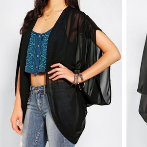 UO Pins and needles chiffon cocoon cardigan Med